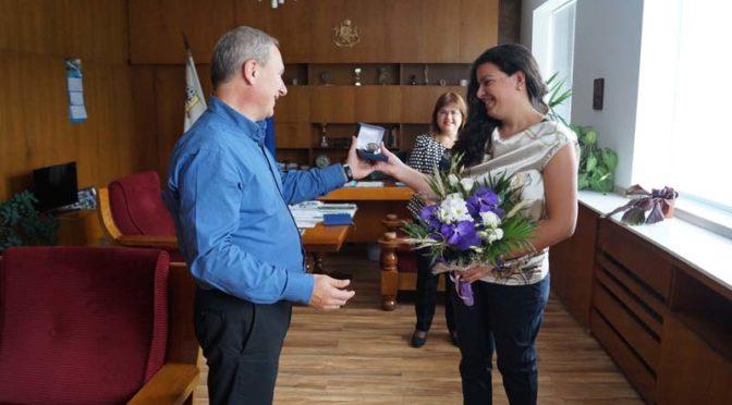 Кметът на Търговище поздрави Антоанета Бонева за успешното представяне на олимпийските игри