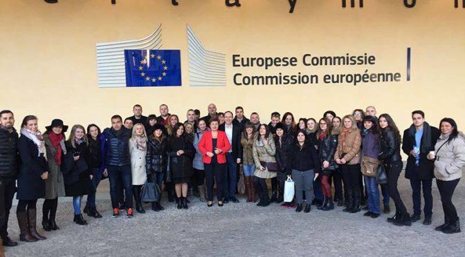 Младежи от МГЕРБ-Търговище и Попово посетиха Европейския парламент