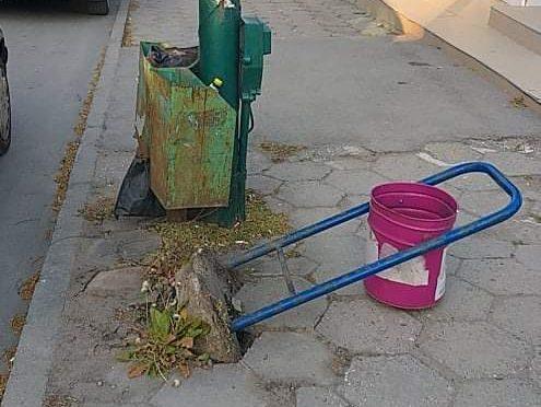 Вандали унищожиха съдове за отпадъци в Търговище