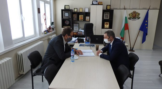 """Митко Стайков проведе среща с изпълнителния директор на """"Български ВиК холдинг"""" ЕАД"""