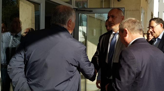 Бойко Борисов се срещна с бизнесмена Божидар Митов в Търговище