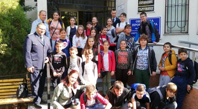 25-ма петокласници от Детското полицейско управление гостуваха на служителите на РУ-Търговище